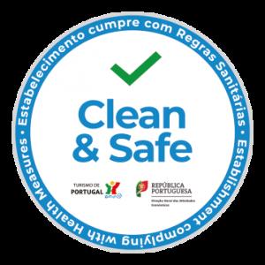 """O Espaço Espelho de Água recebu o Selo """"Clean and Safe"""", do Turismo de Portugal, garantindo assim que cumpre com todas as normas de segurança da DGS."""